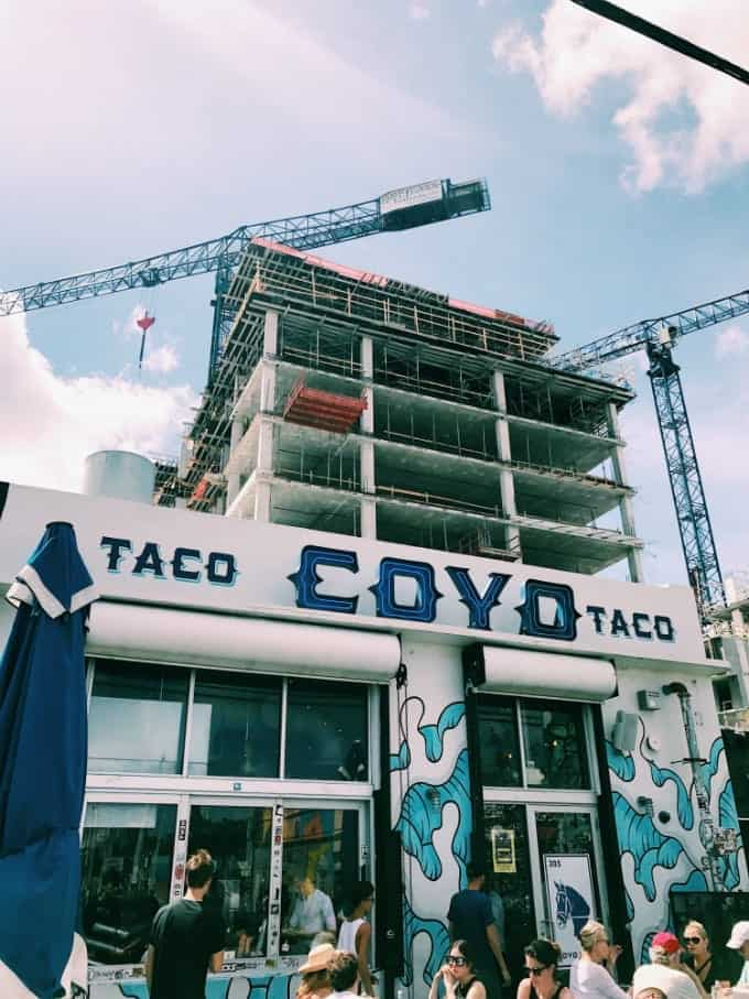 Coyo Taco, a small and hip eatery in the trendy Wynwood district of Maimi, Florida, serves up original and extremely tasty taco options to suit any palate.