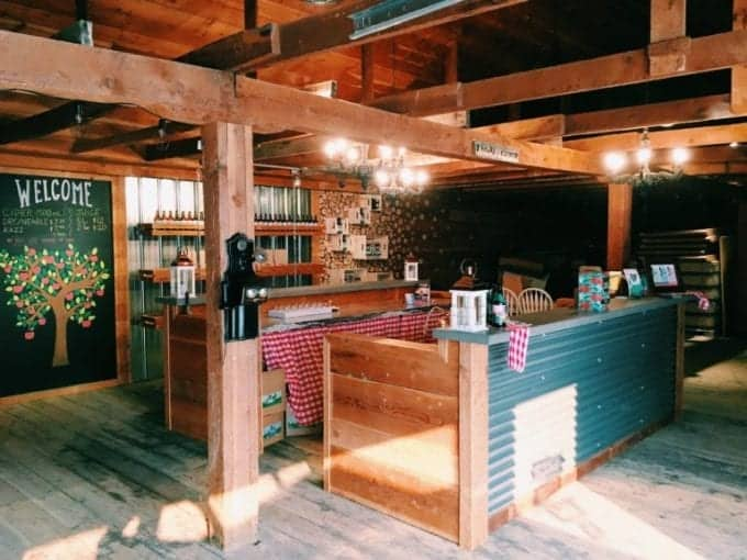 A peek at one Harvest Hosts location in Canada: Scenic Road Cider Co. tasting room in Kelowna, BC.