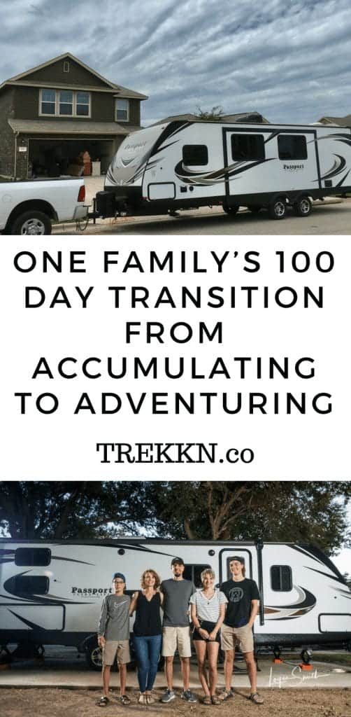 Steps we took to go from house to full-time RV living