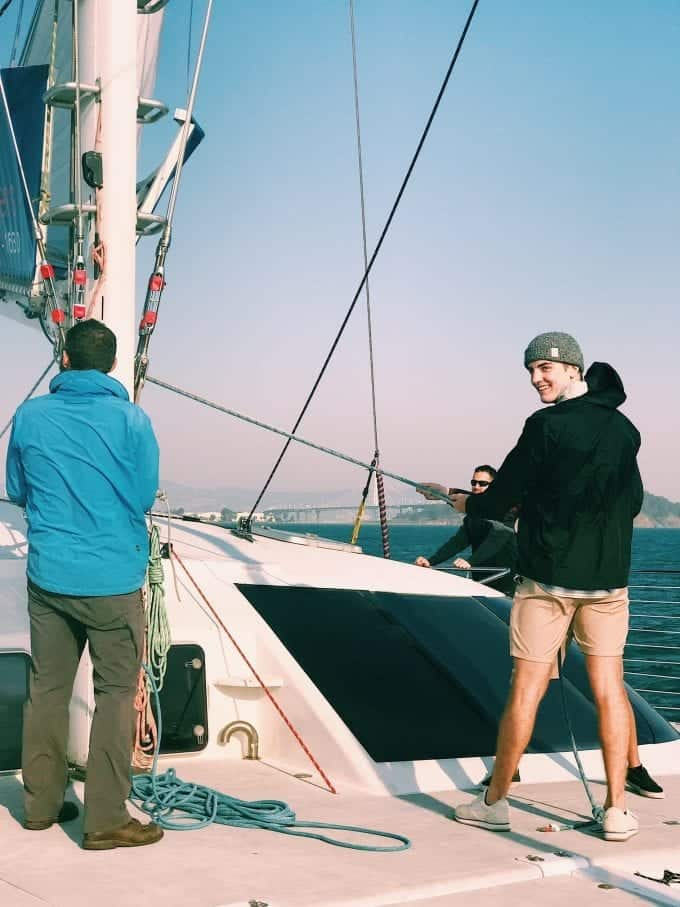 Sailing with Adventure Cat in San Francisco