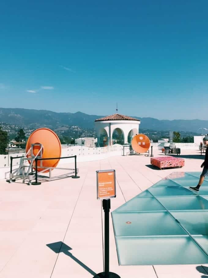 The rooftop of the MOXI Museum in Santa Barbara California
