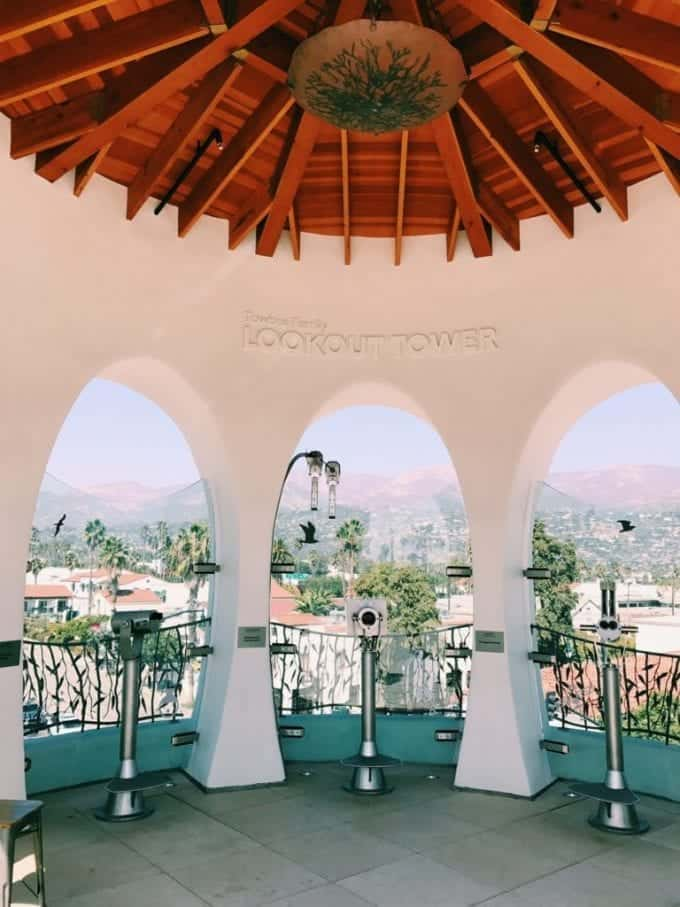 The rooftop lookout tower at the MOXI Museum in Santa Barbara California