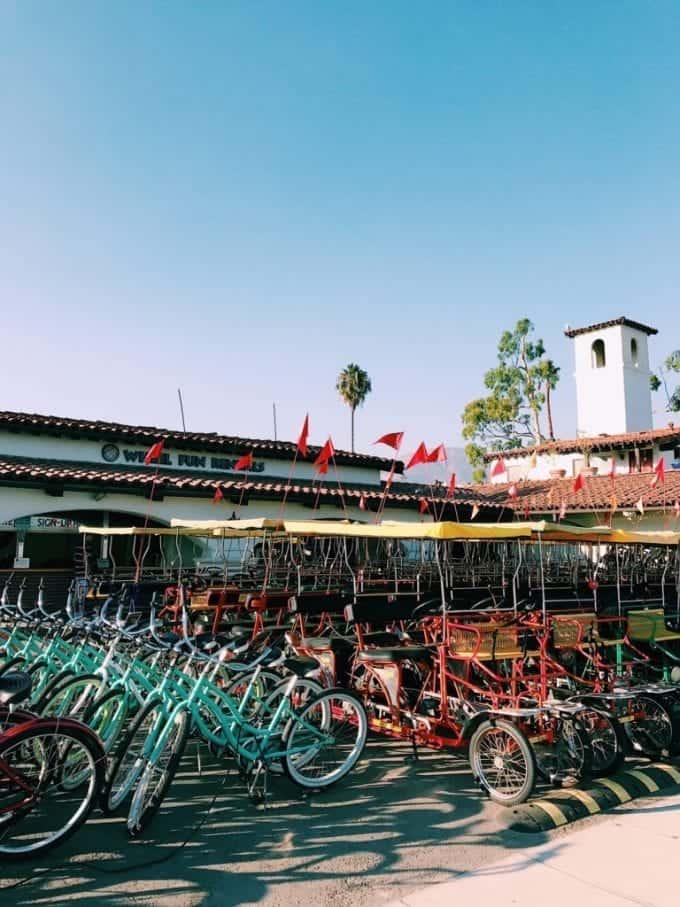Rent a surrey to ride around and see the sights of Santa Barbara California