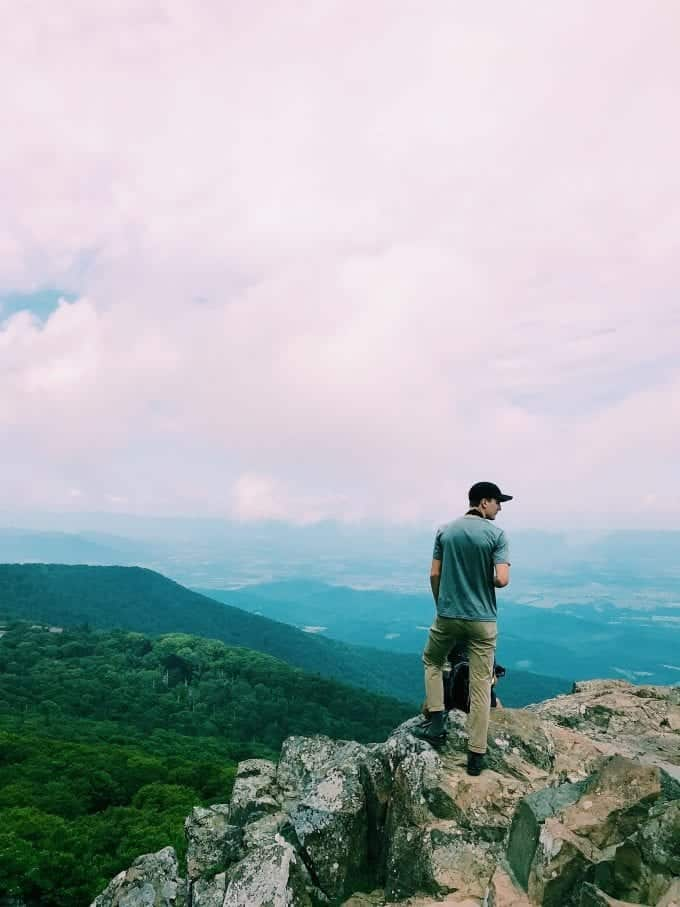Full time RVing: Soaking in the views of the North Carolina mountains.