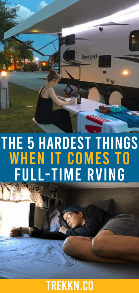 Hardest parts about full-time RV living