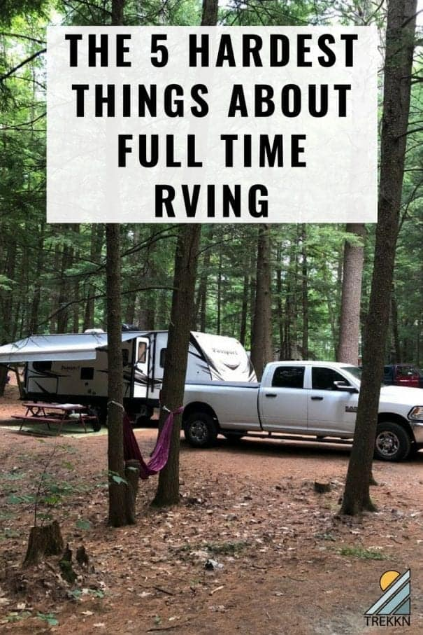 These are the five hardest things about full time RVing