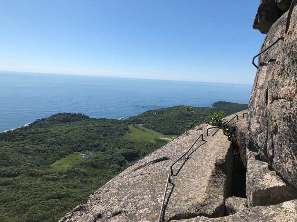 Precipice Trail provides some fantastic views of the area and some heart-pounding moments along some cliff edges as well. Hang on tight!