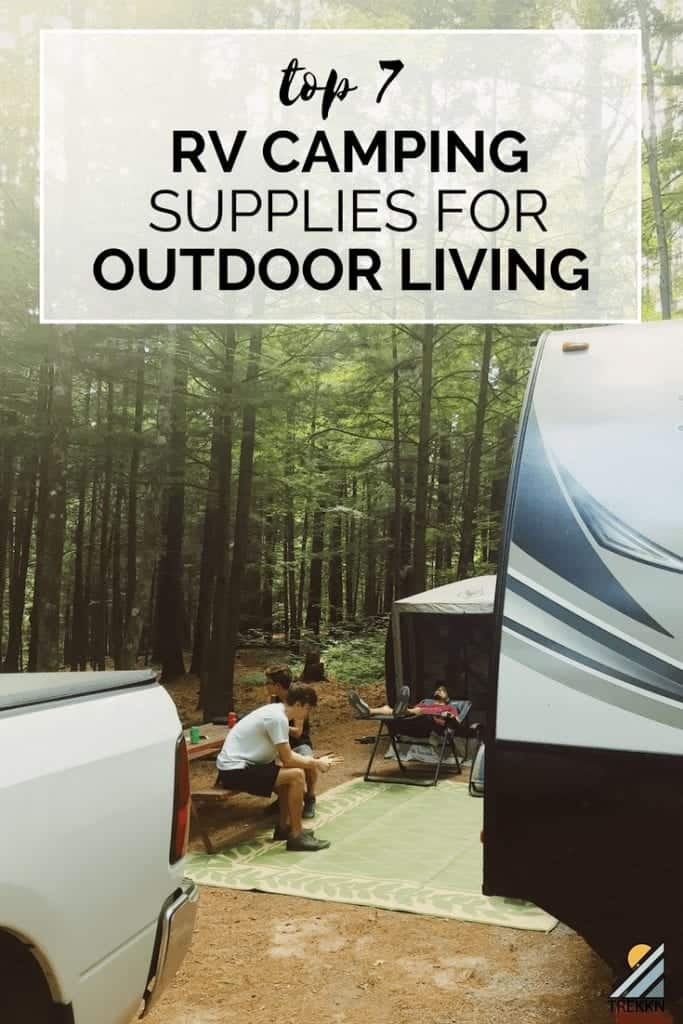 Relaxing outside of your RV is just as important as getting your RV out there on the road in the first place. Here, we are fully enjoying our time outdoors in the Vermont woods on a perfect summer day.