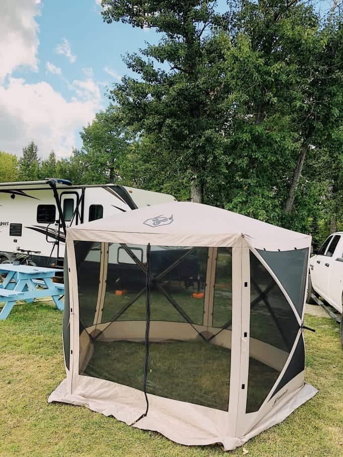 Top 5 RV Camping Accessories for Hard Core RVers: popup tent