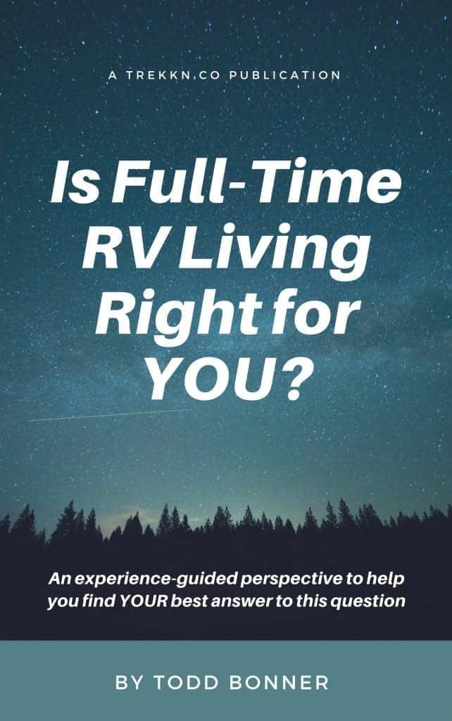 "Book cover for ""Is Full-Tiime RV Living Right For You?"""