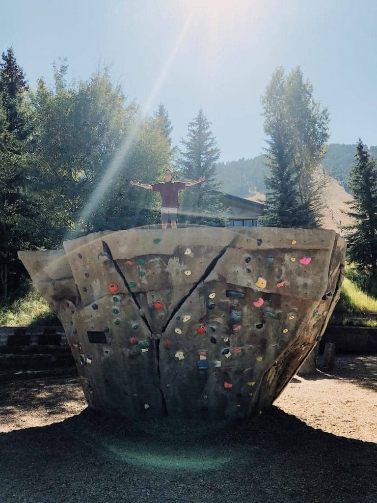 You'll find this wall and others at Teton Boulder Park in Jackson, Wyoming