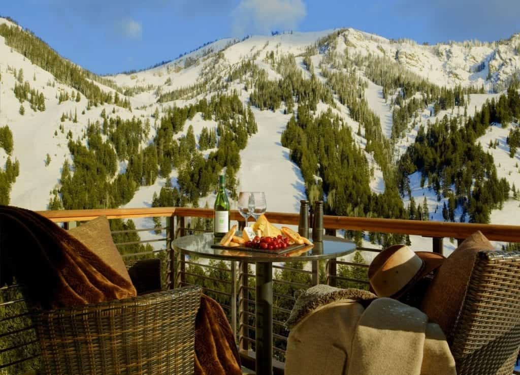 Hotel Terra in the winter, Jackson Hole Wyoming