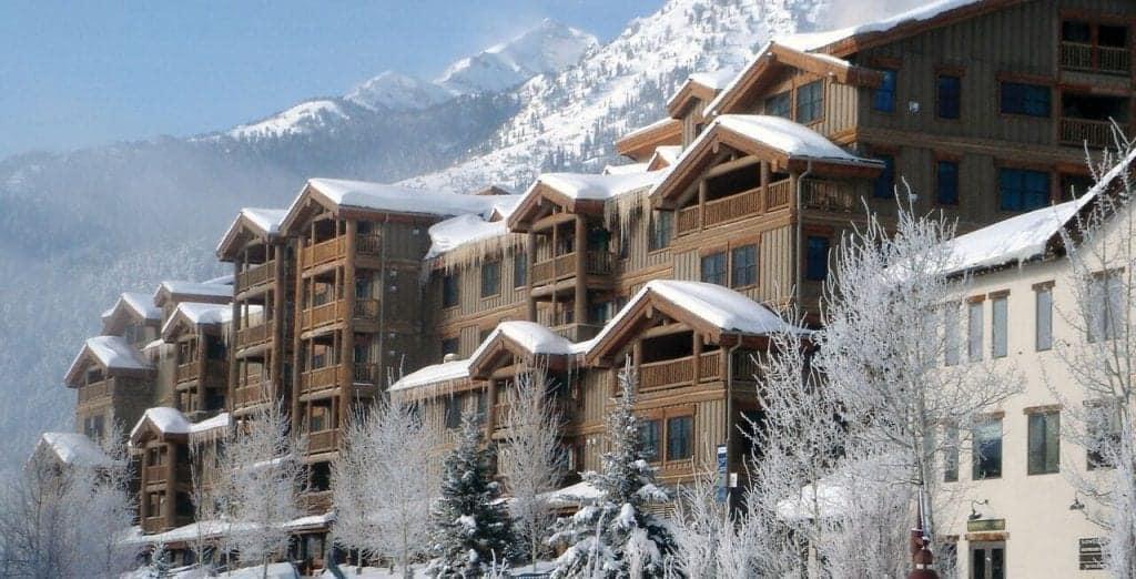 Teton Mountain Lodge & Spa in the winter