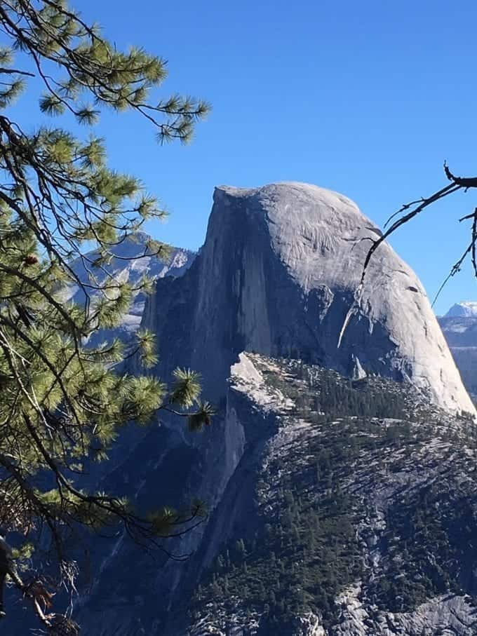 A peek at Half Dome during our last visit to Yosemite in the Fall. A spectacular time to visit Yosemite National Park!