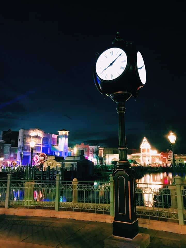 Universal Studios Orlando at night