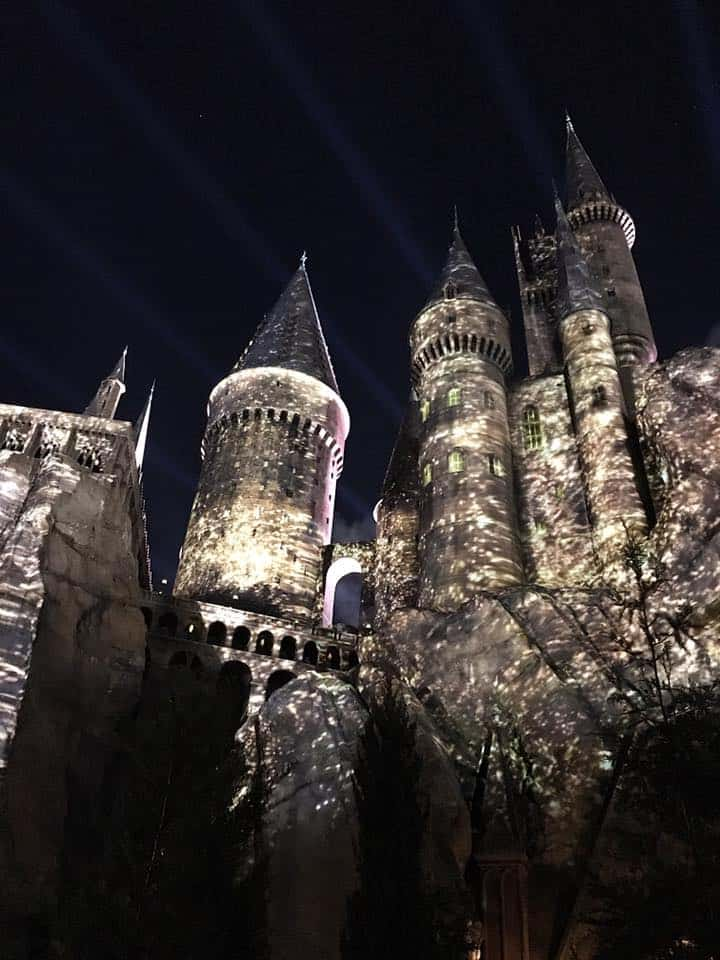 The nighttime show above the Harry Potter castle in Universal Orlando does not disappoint.