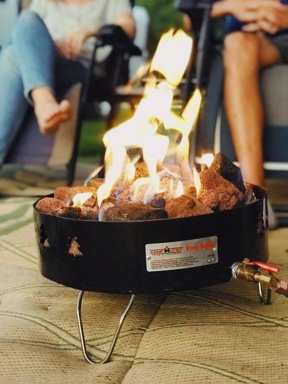 This propane fire pit is a fun RV gadget