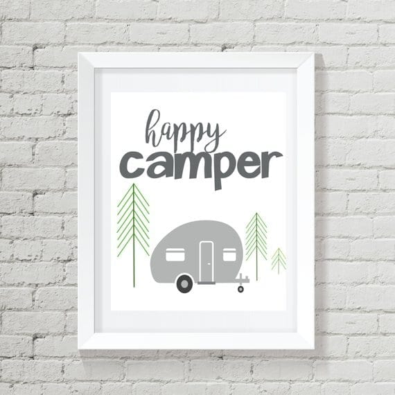 Happy Camper Art