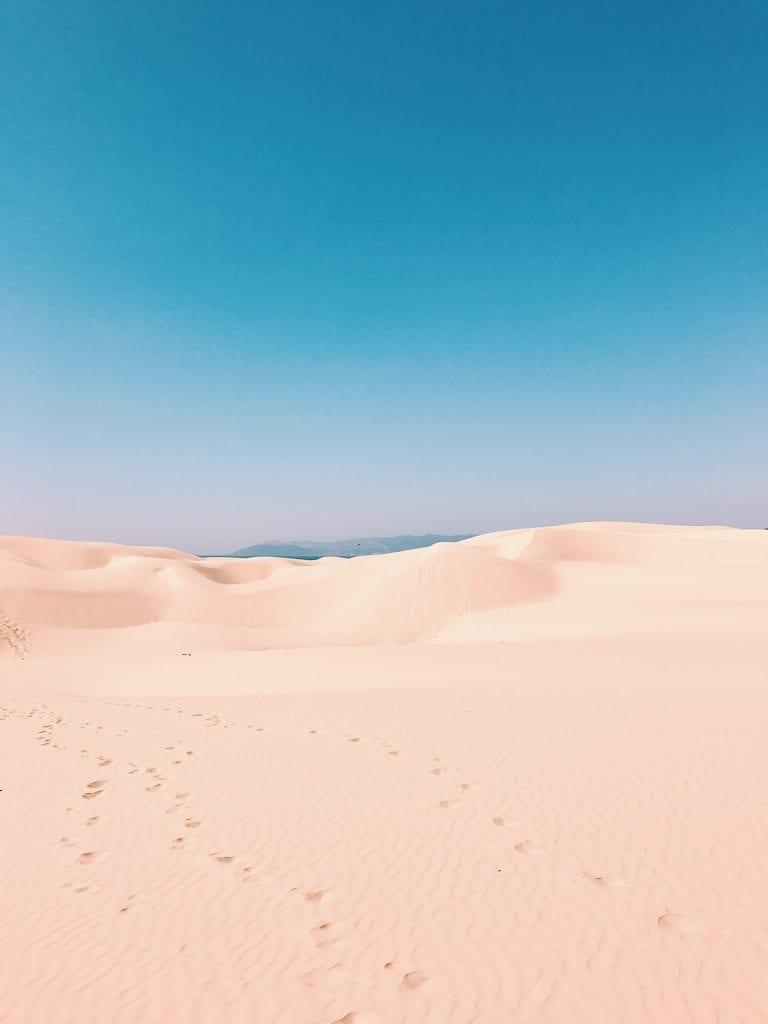 The sand dunes near a Pismo Beach RV Park