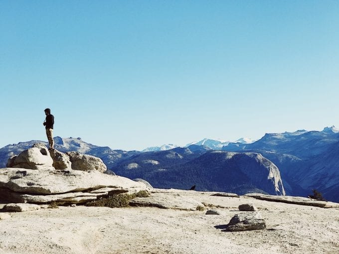 View from Sentinel Dome in Yosemite