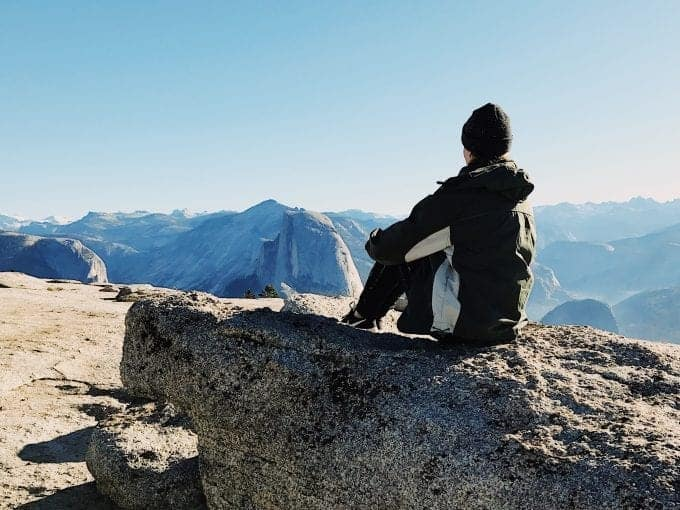 The view from Sentinel Dome in Yosemite