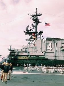 The USS Midway in San Diego California