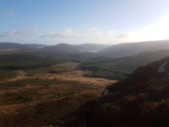 Wicklow Mountains National Park in Ireland