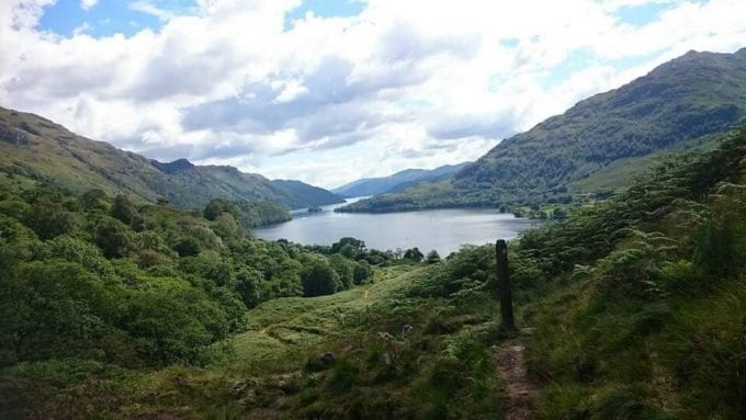 Loch Lomond and the Trossachs National Park in Scotland