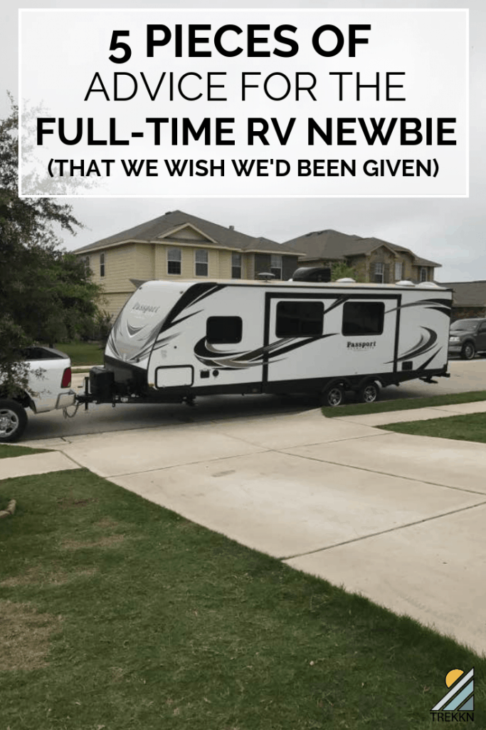 5 pieces of advice for the RV newbie