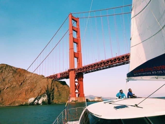 adventure cat sailing San Francisco
