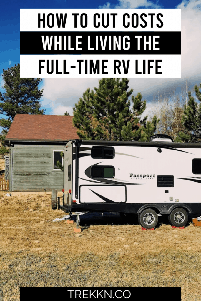 Full-time RV living costs saving tips