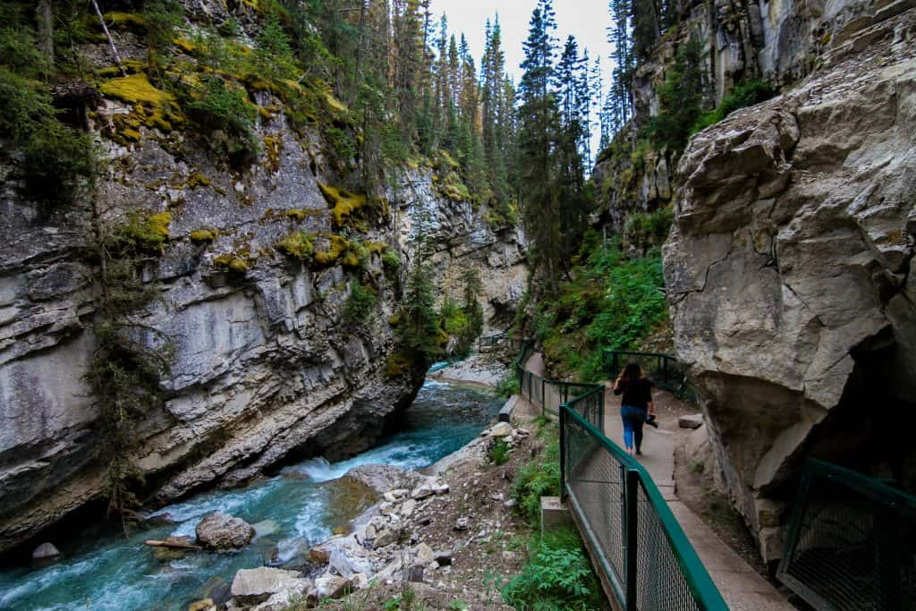 The Johnston Canyon in Banff National Park