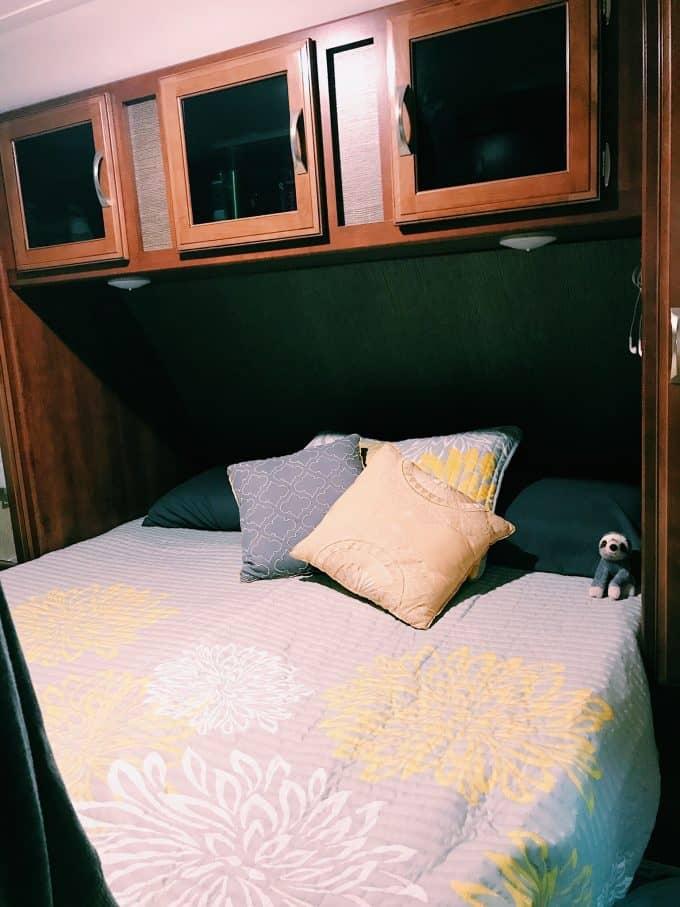 RV Sleep Tips - Our Masterbedroom