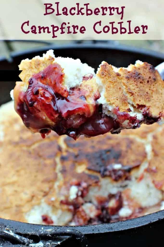 campfire desserts - 3 Ingredient Blackberry Campfire Cobbler