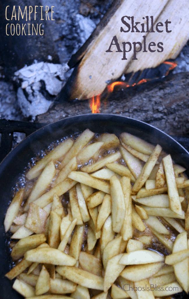 Campfire Desserts - Campfire Skillet Apples Recipe