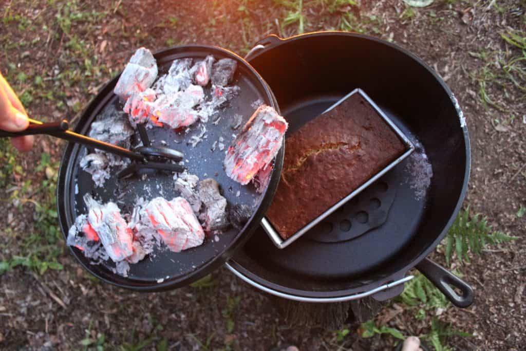 Campfire Desserts - Dutch Oven Banana Bread