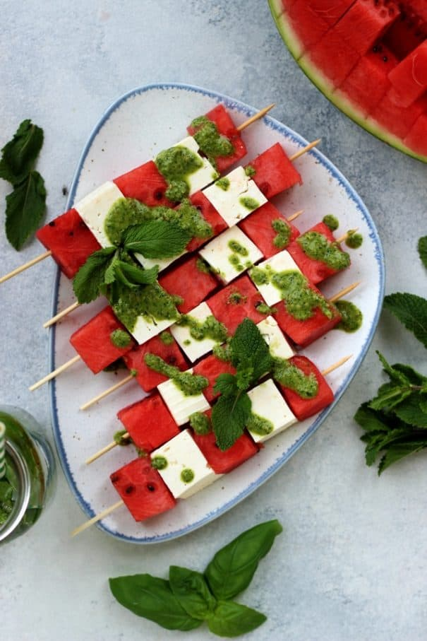 Take Along Watermelon Skewers for Camping