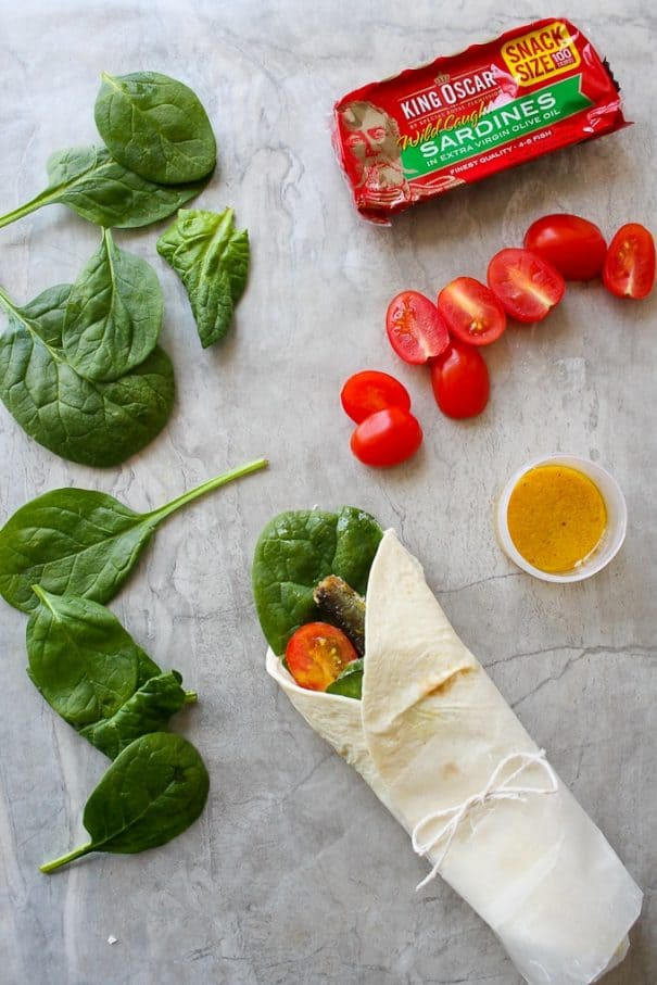 Fish wraps a no-cook healthy camping meal