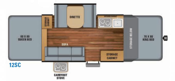 Jayco Jay Sport Floor Plan 12SC