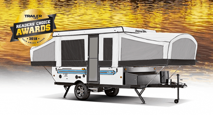 The Jayco Jay Sport Camping Trailer earned the Trailer Life Readers' Choice Award in 2018