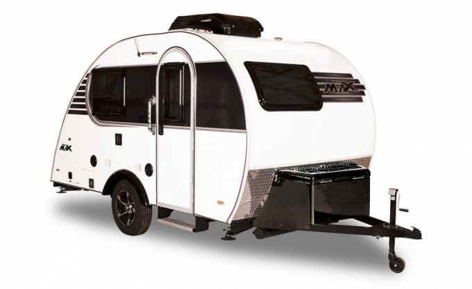 This Mini Max teardrop trailer by Little Guy Trailers cannot be missed in your search for small campers with bathrooms.