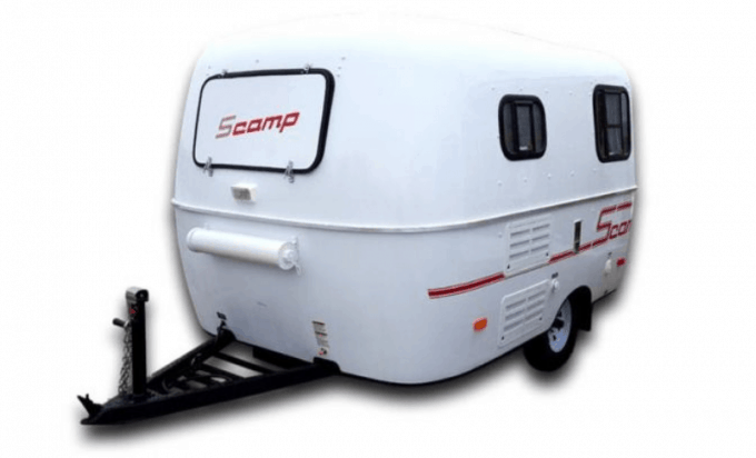 The Scamp travel trailer is a veteran of the open road, where it has lived since the early 1970s.