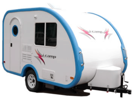 The iCamp Elite travel trailer is a high quality and lightweight option in the small campers with bathrooms category.