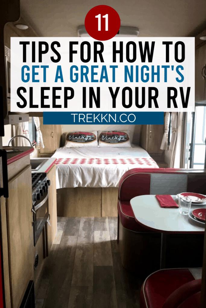 RV Bedroom Sleeping Tips for a great night's sleep