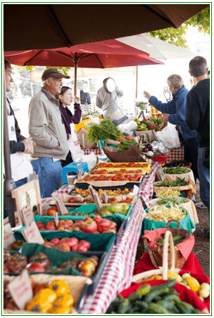 One of many produce stands at Bayview Farmers Market on Whidbey Island, Washington