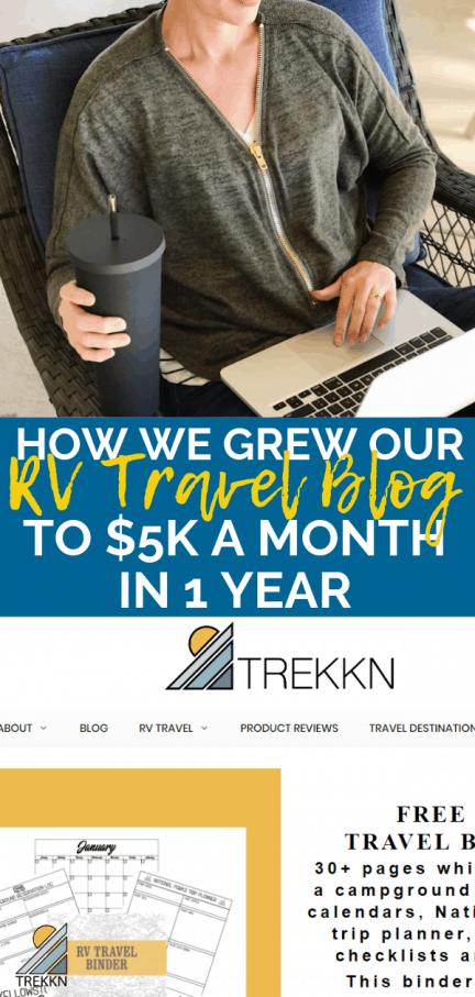 How much money can an RV travel blog make?