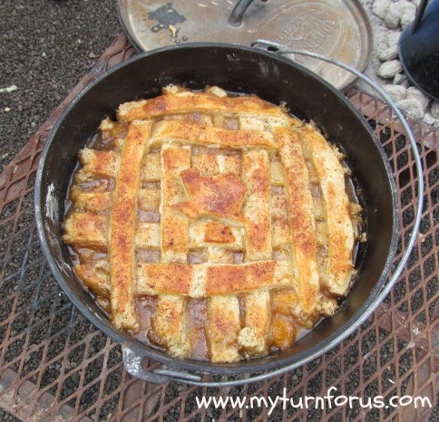 Dutch Oven Texas Peach Cobbler
