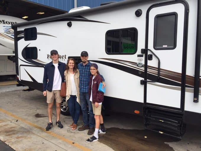 Buying our first travel trailer for full-time RVing
