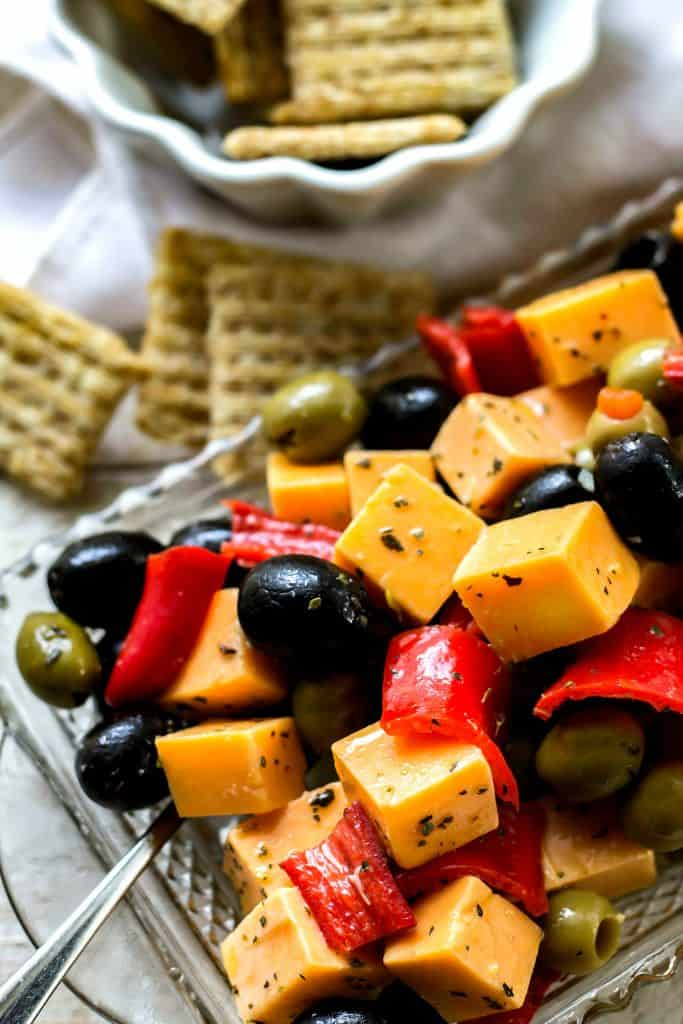 Marinated Cheese pepper and olives