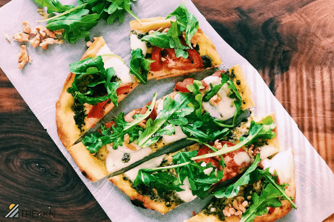 Quick & Easy Naan Pizza Recipe with Pesto & Arugula